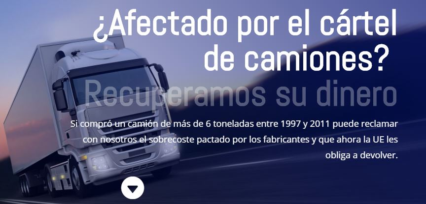 Te ayudamos a recuperar tu dinero si estás afectado por el cártel de camiones