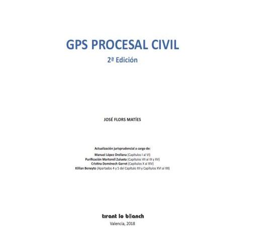 El abogado Killian Beneyto participa en la obra GPS Procesal Civil editada por Tirant lo Blanch
