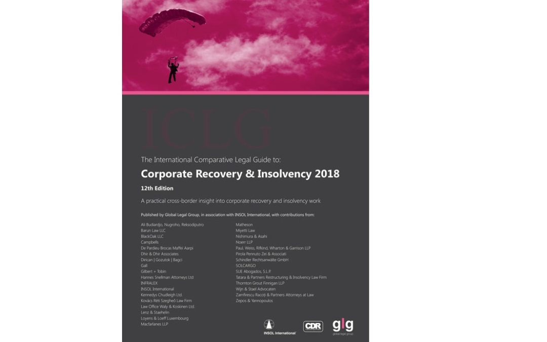 Participamos en ICLG: Corporate Recovery&Insolvency 2018