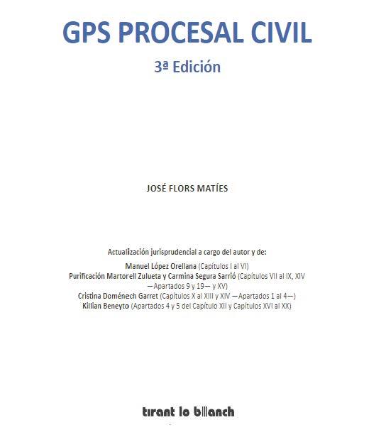 Publicada la 3ª edición de la obra GPS Procesal Civil