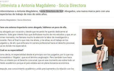 Prodespachos.com entrevista a Antonia Magdaleno