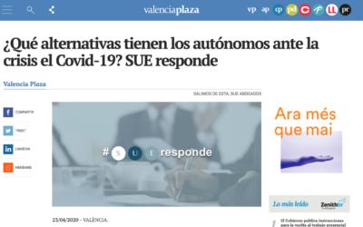 SUE responde en Valencia Plaza: ¿Qué alternativas tienen los autónomos ante la crisis del COVID-19?