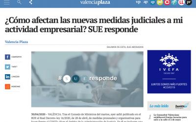 SUE responde en Valencia Plaza: ¿Cómo afectan las nuevas medidas judiciales a mi actividad empresarial?